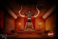 Katara begins a healing session with Aang